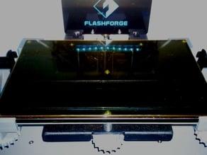 Glassbed Corner Brackets for FlashForge Dreamer for 3mm Plates (flat)
