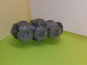 Tête avec 10 pignons coniques -  Bevel Gears