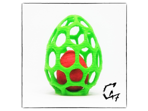Egg in Egg cage - two colors with single extruder