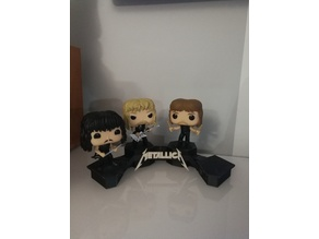 Exhibition stand for Funko Pop Metallica set