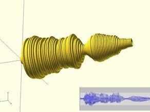 Wave (Sound) to OpenSCAD Bracelet Converter