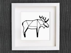Customizable Origami Moose