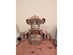 Robot Brass Monkey Head