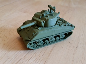 "1:100 Sherman M4A3E2 ""Jumbo"" Tank (Flames of War)"