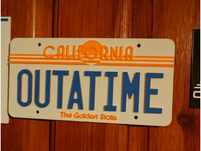 Back to the future license plate 1985 (plus blank plate)