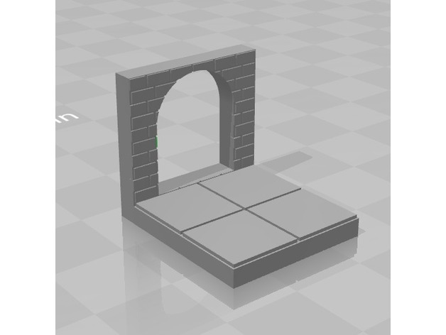 RPG Dungeon Tile 2x2 With Doorway (EP Tiles) by