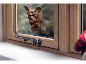 Angry Pig - Window Decoration