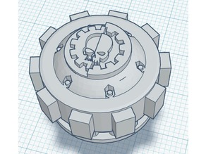 Imperial Knight Back Reactor extension with mechanicus logo