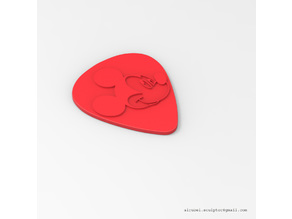 mickey mouse guitar pick