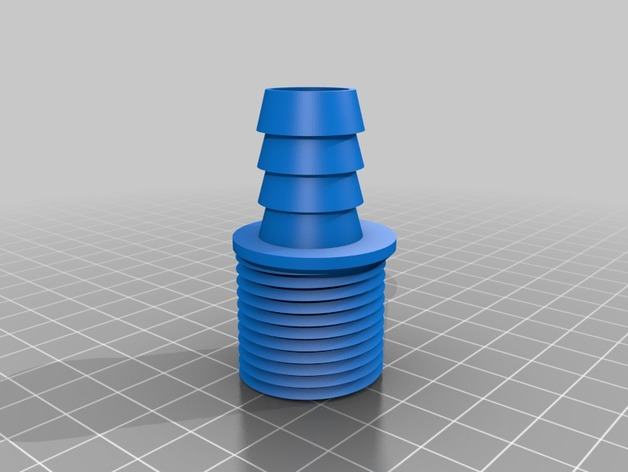 """Garden Hose Male to 1/2"""" Barb Adapter by averyjr - Thingiverse"""