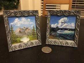 Mini-canvas picture frame