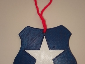 Shield and Star Christmas Ornament