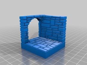 OpenForge Stone Brick corner door