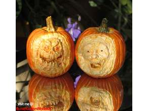Creepy Pumpkin Heads - Set B