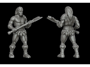 Human male barbarian (28 mm DnD miniature)