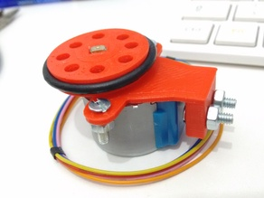 Wheel ( roda ) and support for stepper motor 28BYJ