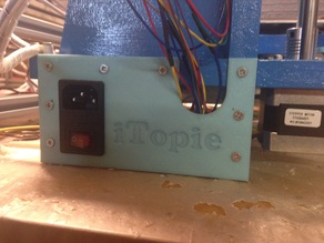 Plaque pour bornier d'alimentation iTopie - Power panel for iTopie