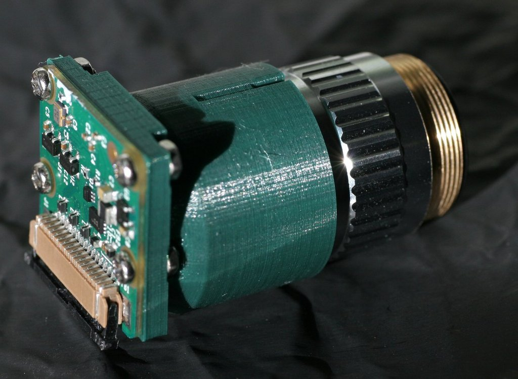 Raspberry Pi Camera Objective Lens Adaptor by jbeale