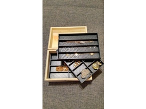 Wooden box trays for storage