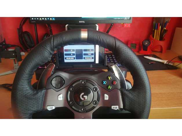 ac0721f5690 Logitech G29/G920 wheel modular phone mount by Alby312 - Thingiverse