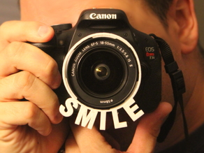 Camera Lens-Hood SMILE attachment - 58mm Canon T3i