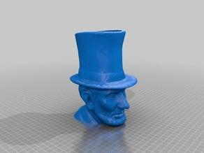 Abraham Lincoln planter (or penholder)