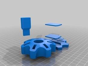 Support clef USB + socle pour carte SD