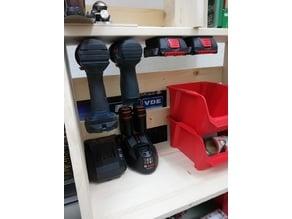 Bosch GSB Cordless Drill Shelf Mounts 12V + 18V