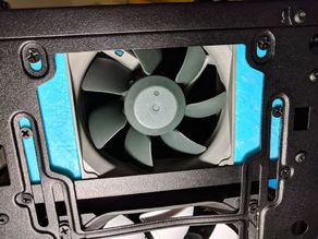 """Fractal Define Mini C fan mount to cool 3.5"""" hdd (Tempered Glass)"""