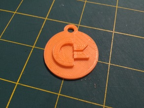 Commodore Logo Keychain Fob