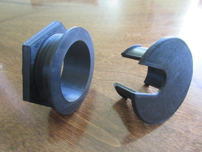 Desk Grommet, threaded (parametric)