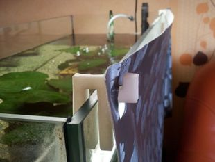 Tablecloth mount for the fishtank