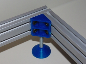 40 MM T-Slot Angle Bracket With Adjustable Foot