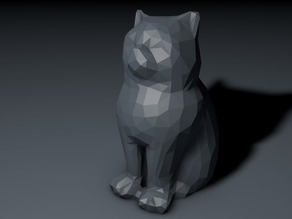 Low Poly Marketbot Laser Cat