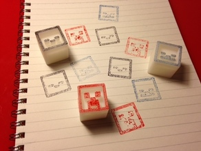 Minecraft stamp blocks