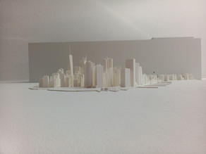 Large Scale New York Manhattan 3D Model