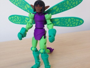 Tinkerplay Dragonfly Pixie character for dual material printing