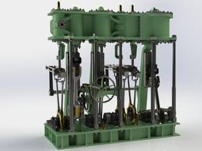 Triple Expansion Marine Steam engine update 13