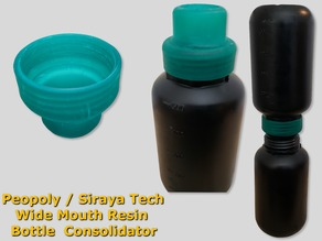 Peopoly / Siraya Tech Wide Mouth Resin Jar Funnel and Consolidator