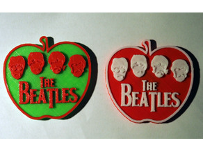Beatles Apple Bicolor magnet