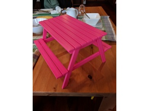 Our Generation Doll Picnic Table