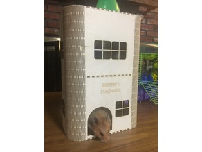 Laser Cut Hamster Playhouse