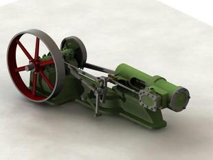 steam engine with reverse gear