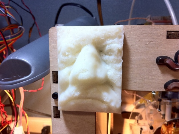 Trimensional scan of my face 3D Printed - scary! #makerbot