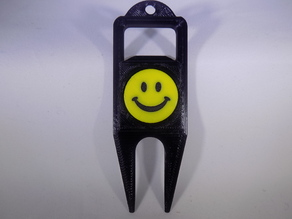 SMILEY FACE Golf Ball Marker