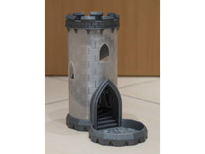 Another Dice Tower V2 Shell (bottle substitute)