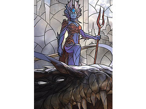 Kiora, Behemoth Beckoner - stained glass - litho