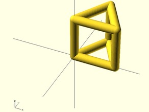 Equilateral Triangle with a linear extruded frame