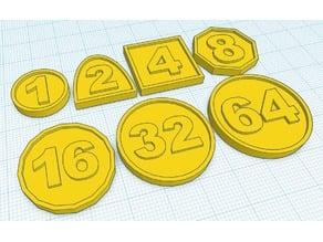 Learn basic math with binary coins