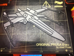 X-Wing wall sign